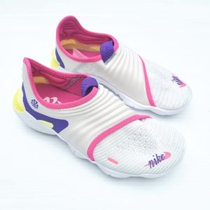 NIKE Free RN Flyknit 3.0 Running Shoes white pink
